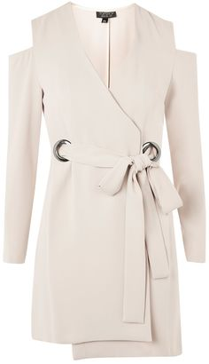 Topshop Cold Shoulder Blazer Dress