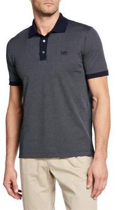 Salvatore Ferragamo Men's Gancini Print Polo Shirt