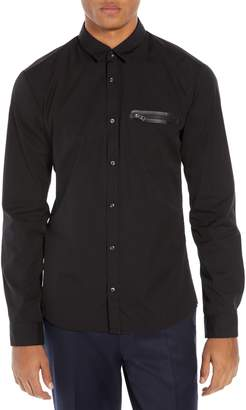 HUGO Ero Extra Slim Fit Zip Pocket Sport Shirt