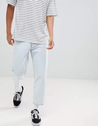 Dr. Denim otis cropped skater jeans worn superlight blue