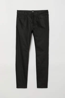 H&M Coated Skinny Jeans - Black