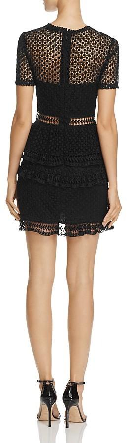 AQUA Dot Lace Tiered Dress - 100% Exclusive 2