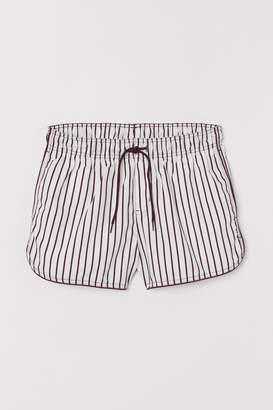 H&M Short Patterned Swim Shorts - Red