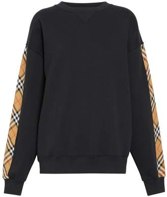 Burberry Vintage Check Detail Jersey Sweatshirt