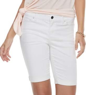 Juicy Couture Women's Cuffed Bermuda Jean Shorts
