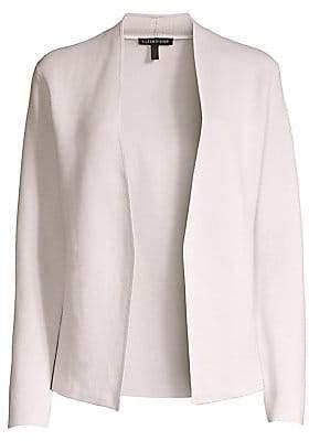 Eileen Fisher Women's Shape Silk & Organic Cotton Cardigan