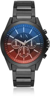 Armani Exchange Drexler Two Tone Dial And Black Stainless Steel Men's Chronograph Watch