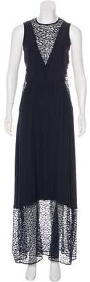Jenni Kayne Lace-Accented Maxi Dress