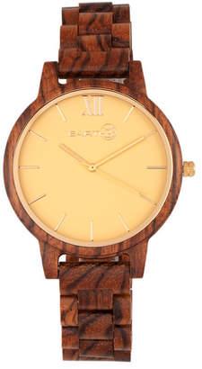 Earth Wood Pike Wood Bracelet Watch Olive 45Mm