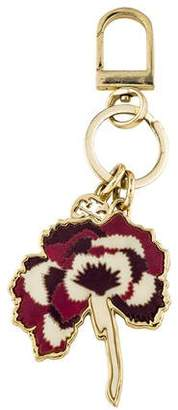Tory Burch Multicolor Flower Keychain