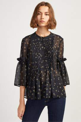 French Connenction Mahi Sheer Floral Blouse