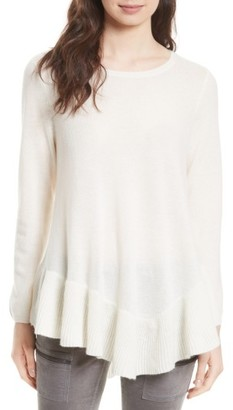 Women's Joie Tambrel N Wool & Cashmere Asymmetrical Sweater Tunic $328 thestylecure.com