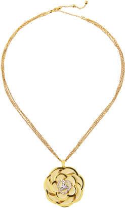 Roberto Coin 18k White Enamel Diamond Flower Pendant Necklace