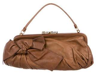 Miu Miu Bow-Accented Leather Handle Bag