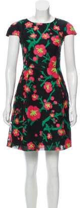 Andrew Gn Floral A-Line Dress