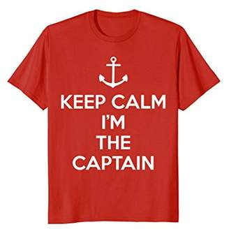 Keep Calm I'm the Captain T-Shirt with Anchor