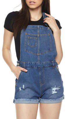 Pretty Little Things Denim Overall Shorts
