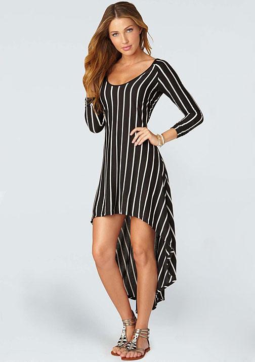Alloy Jane Stripe Hi-lo Dress