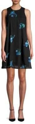 Calvin Klein Floral Embroidered Shift Dress