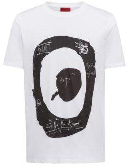 HUGO Boss Target Graphic Print T-Shirt Dashy XS White