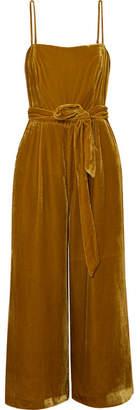 J.Crew Marseille Belted Velvet Jumpsuit - Gold