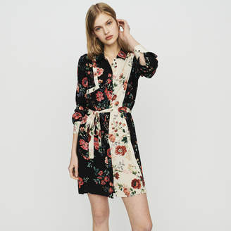 Maje Floral print shirt dress