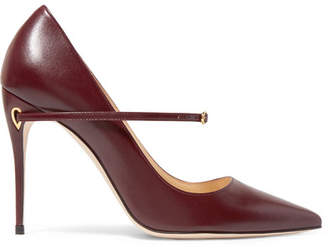 Jennifer Chamandi - Lorenzo Leather Pumps - Burgundy