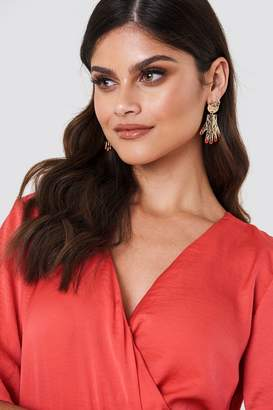 Na Kd Boho Hanging Structured Hands Earrings Gold