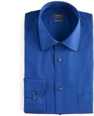Arrow Mens Regular-Fit Solid Textured Dress Shirt