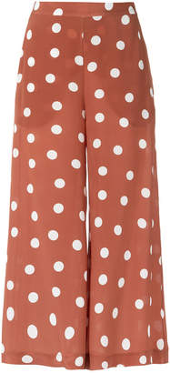 Andrea Marques polka dot wide leg trousers