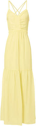 Intermix Chelsea Yellow Chiffon Maxi Dress