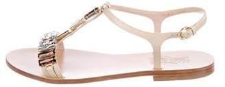 Salvatore Ferragamo Embellished T-Strap Sandals