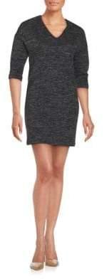 SET V-Neck Knit Dress