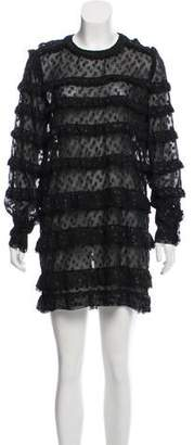 Isabel Marant Metallic Ruffle Dress