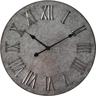 Highst. 60cm Galvanised Roman Numerals Wall Clock