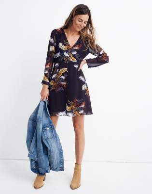 Lilyblossom Button-Front Dress in Blooming Oasis