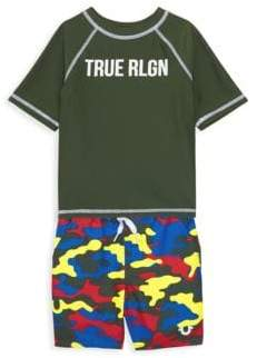26c4b93a9 True Religion Baby Boy's & Little Boy's 2-Piece Camouflage Rashguard ...