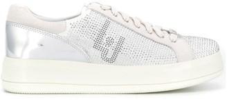 Liu Jo embellished metallic sneakers