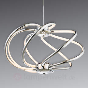 Schwungvoll designte LED-Hängeleuchte Samia