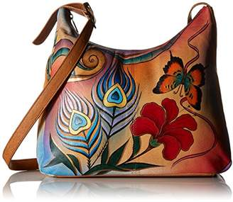 Anuschka Anna by GenuineLeatherHobo Shoulder Bag Hand Painted Original Artwork