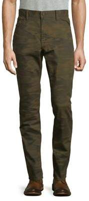 Lucky Brand Athletic Slim-Fit Camo-Print Pants