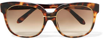 Linda Farrow Oversized Square-frame Tortoiseshell Acetate And Gold-plated Sunglasses