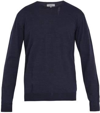 Lanvin Distressed crew-neck wool sweater