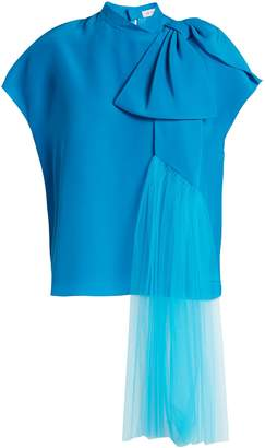 DELPOZO Exaggerated-bow silk blouse