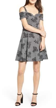 Love, Nickie Lew Cold Shoulder Skater Dress
