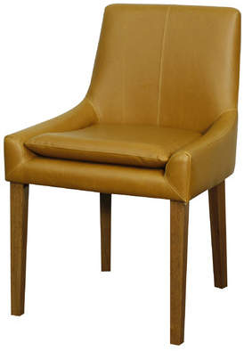 Union Rustic Thorton Genuine Leather Upholstered Dining Chair