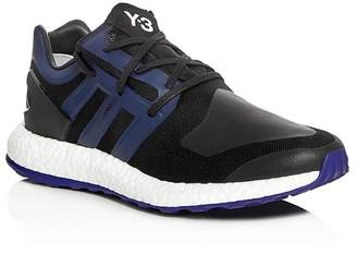 Y-3 Pureboost Lace Up Sneakers $320 thestylecure.com