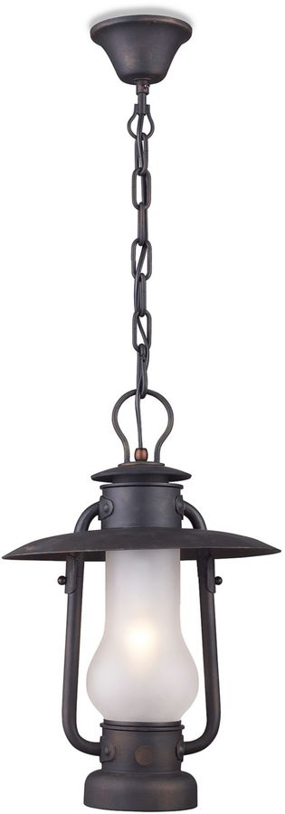 Bed Bath & Beyond Elk Lighting Chapman 1-Light Pendant in Matte Black