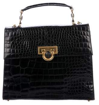 Gianni Versace Vintage Alligator Shoulder Bag