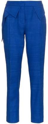 Ronald Van Der Kemp mid rise slim leg silk trousers